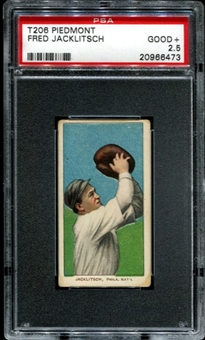 1909-11 T206 Piedmont Fred Jacklitsch PSA 2.5 (GOOD+) *6473
