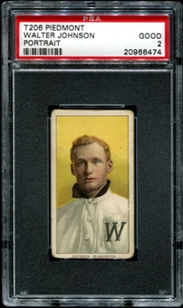 1909-11 T206 Piedmont Walter Johnson (Portrait) PSA 2 (GOOD) *6474