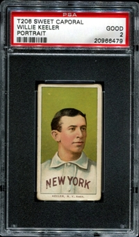1909-11 T206 Sweet Caporal Willie Keeler (Portrait) PSA 2 (GOOD) *6479