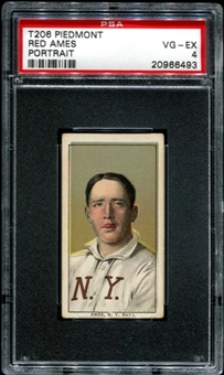 1909-11 T206 Piedmont Red Ames (Portrait)  PSA 4 (VG-EX) *6493