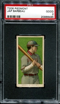 1909-11 T206 Piedmont Jap Barbeau PSA 2 (GOOD) *6495