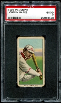 1909-11 T206 Piedmont Johnny Bates PSA 2 (GOOD) *6496