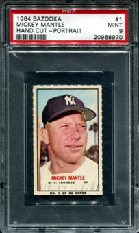 1964 Bazooka Baseball #1 Mickey Mantle (Portrait) PSA 9 (MINT) *8970