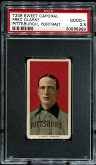 1909-11 T206 Sweet Caporal Fred Clarke (Pittsburgh - Portrait) PSA 2.5 (GOOD+) *8998