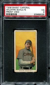 1909-11 T206 Sweet Caporal Wildfire Schulte (Front View) PSA 3 (VG) *9026