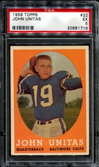1958 Topps Football #22 Johnny Unitas PSA 5 (EX) *1716