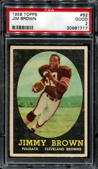 1958 Topps Football #62 Jim Brown Rookie PSA 2 (GOOD) *1717