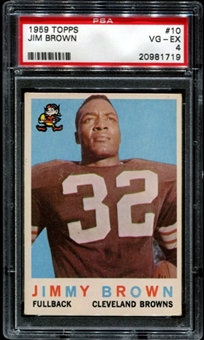 1959 Topps Football #10 Jim Brown PSA 4 (VG-EX) *1719