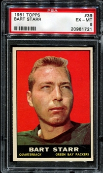 1961 Topps Football #39 Bart Starr PSA 6 (EX-MT) *1721
