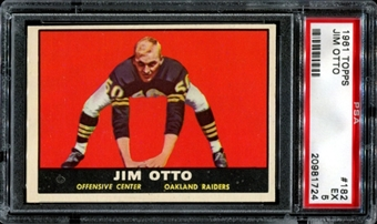 1961 Topps Football #182 Jim Otto Rookie PSA 5 (EX) *1724