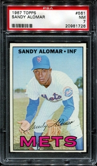 1967 Topps Baseball #561 Sandy Alomar PSA 7 (NM) *1726