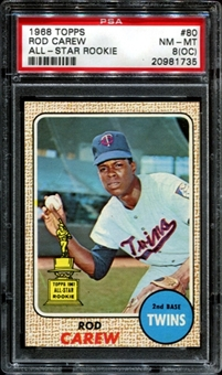 1968 Topps Baseball #80 Rod Carew PSA 8 (NM-MT) (OC) *1735