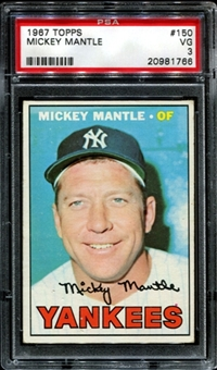 1967 Topps Baseball #150 Mickey Mantle PSA 3 (VG) *1766