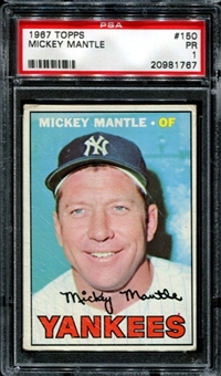 1967 Topps Baseball #150 Mickey Mantle PSA 1 (PR) *1767