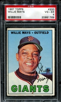 1967 Topps Baseball #200 Willie Mays PSA 4 (VG-EX) *1769