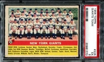 1956 Topps Baseball #226 New York Giants Team PSA 5 (EX) *1773