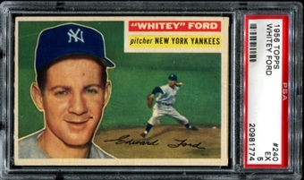 1956 Topps Baseball #240 Whitey Ford PSA 5 (EX) *1774