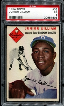 1954 Topps Baseball #35 Jim Gilliam PSA 5 (EX) *1805