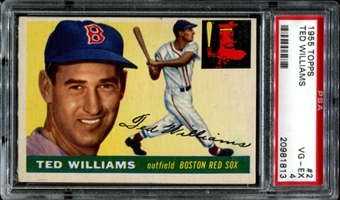 1955 Topps Baseball #2 Ted Williams PSA 4 (VG-EX) *1813
