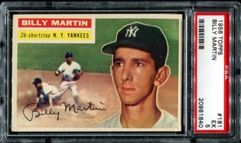 1954 Topps Baseball #181 Billy Martin PSA 5 (EX) *1840