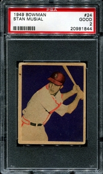 1949 Bowman Baseball #24 Stan Musial PSA 2 (GOOD) *1844