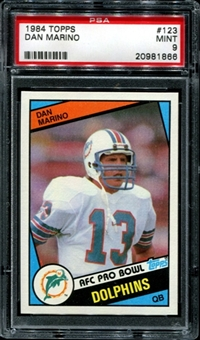 1984 Topps Football #123 Dan Marino Rookie PSA 9 (MINT) *1866