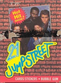 21 Jump Street Trading Cards Wax Box (1988 Topps)