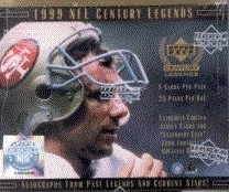1999 Upper Deck Century Legends Football Hobby 24-Pack Lot