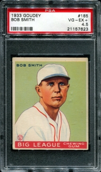 1933 Goudey Baseball #185 Bob Smith PSA 4.5 (VG-EX+) *7623