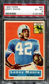 1956 Topps Football #60 Lenny Moore Rookie PSA 6 (EX-MT) *1892
