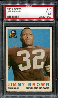 1959 Topps Football #10 Jim Brown PSA 5.5 (EX+) *1907