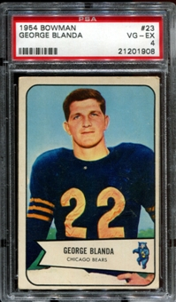 1954 Bowman Football #23 George Blanda Rookie PSA 4 (VG-EX) *1908
