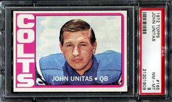 1972 Topps Football #165 Johnny Unitas PSA 8 (NM-MT) *1909