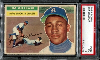 1956 Topps Baseball #280 Jim Gilliam PSA 5 (EX) *2015