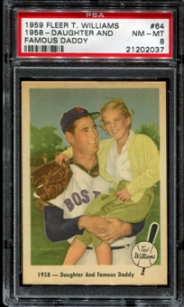 1959 Fleer Baseball #64 Ted Williams PSA 8 (NM-MT) *2037