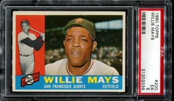 1960 Topps Baseball #200 Willie Mays PSA 5 (EX) *2039