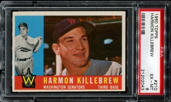 1960 Topps Baseball #210 Harmon Killebrew PSA 6 (EX-MT) *2043