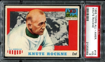 1955 Topps All American Football #16 Knute Rockne PSA 3 (VG) *2059