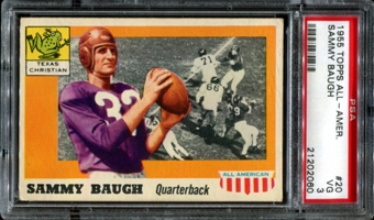 1955 Topps All American Football #20 Sammy Baugh PSA 3 (VG) *2060