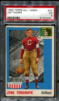 1955 Topps All American Football #37 Jim Thorpe PSA 3 (VG) *2061