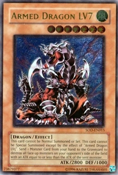 Yu-Gi-Oh Soul of the Duelist Single Armed Dragon Lv7 Ultimate Rare