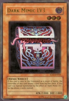 Yu-Gi-Oh Soul of the Duelist Single Dark Mimic Lv3 Ultimate Rare