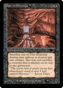 Magic the Gathering Antiquities Single Gate to Phyrexia - SLIGHT PLAY (SP)