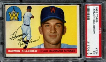 1955 Topps Baseball #124 Harmon Killebrew Rookie PSA 5 (EX) *0912