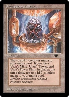 Magic the Gathering Antiquities Single Urza's Power Plant (rock) - SLIGHT PLAY (SP)