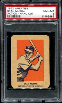 1952 Wheaties Stan Musial (Action) PSA 8 (NM-MT) *3686