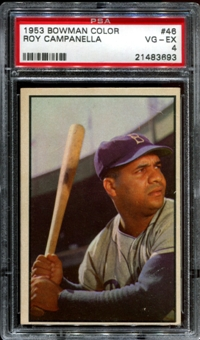 1953 Bowman Color Baseball #46 Roy Campanella PSA 4 (VG-EX) *3693