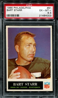1965 Philadelphia Football #81 Bart Starr PSA 6.5 (EX-MT+) *4003