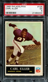 1965 Philadelphia Football #105 Carl Eller PSA 5 (EX) *4004