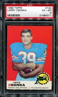 1969 Topps Football #120 Larry Csonka Rookie PSA 6 (EX-MT) *4011